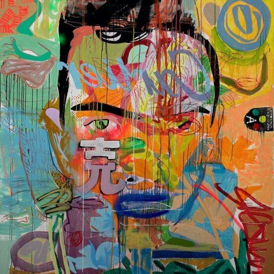 Michail Parlamas_Me&Henry_oil on canvas_190x210cm_6000USD_2003