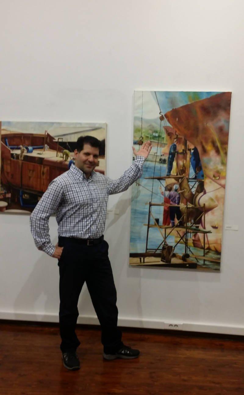 Ο επικεφαλής του Art & Cart, Μελέτης Ρεντούμης